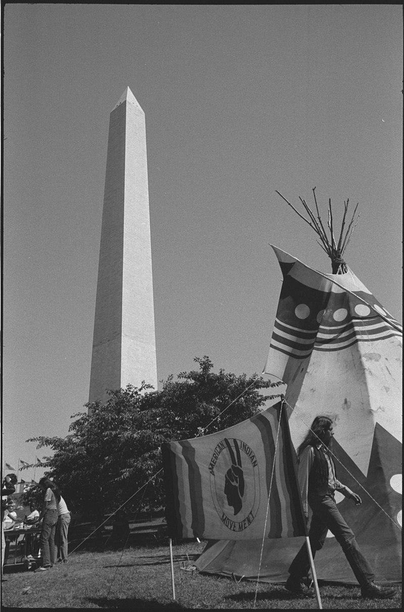Protesta dels indis americans a Washington l'any 1978 amb la Llarga Marxa.