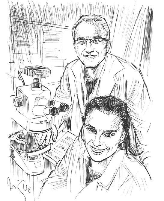 Eduard i Noemí, científics investigadors a Sant Pau