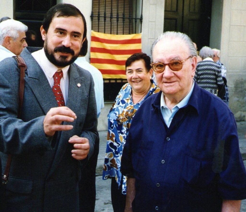 Joan Pallarès, amb Joan Brossa
