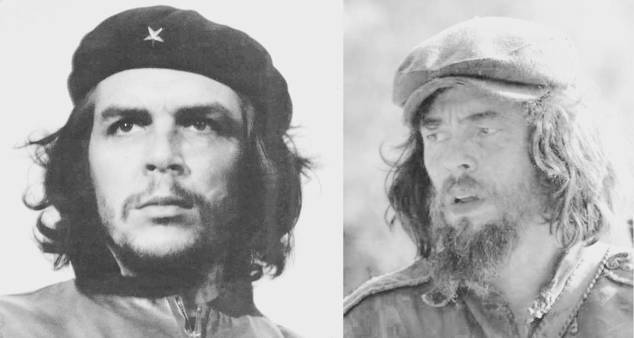 El Che y Benicio del Toro caracterizado como Che.