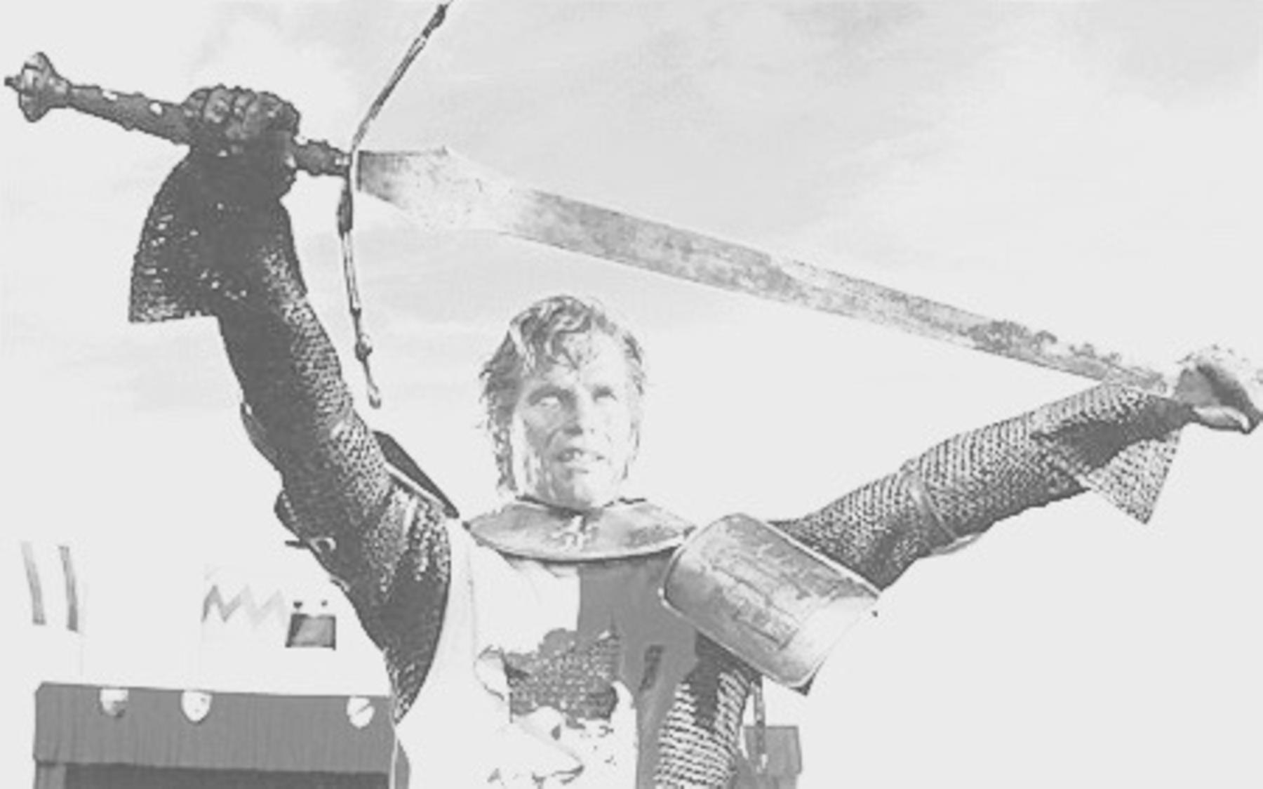 Charlton Heston caracteritzat com a El Cid