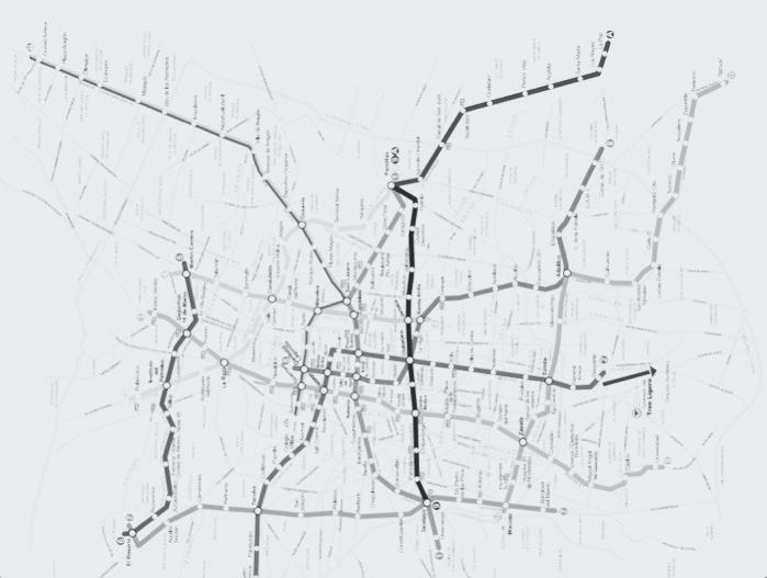 Mapa del Metro de Ciudad de México