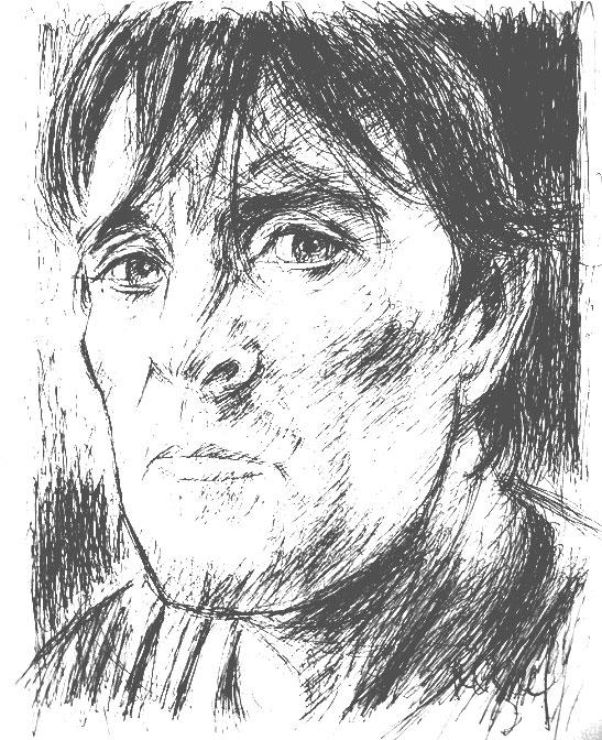 José Antonio Martín, alias 'Amplius', retratado por el ilustrador MIQUEL FUSTER.
