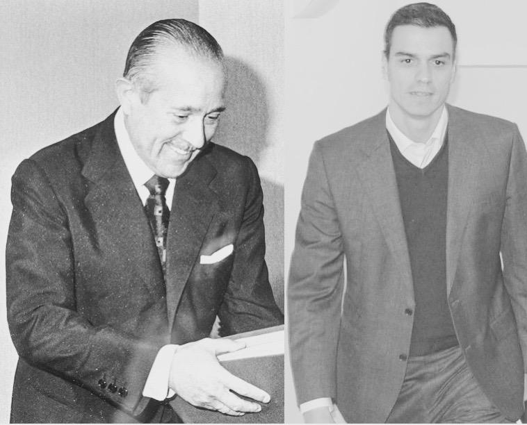 Carlos Arias Navarro y Pedro Sánchez