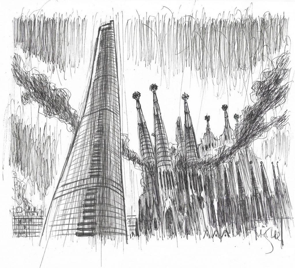 La Sagrada Família, en flames, al relat 'La Plaga'
