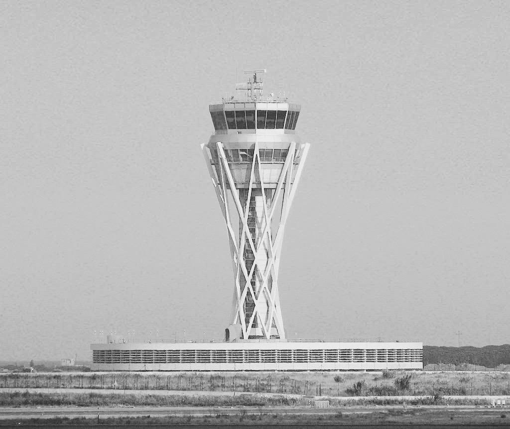 La torre de control de l'Aeroport del Prat