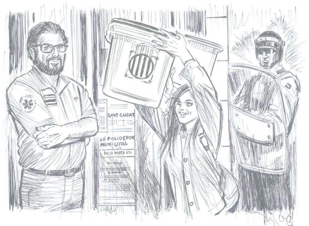 Els protagonistes del relat 'Tres'.
