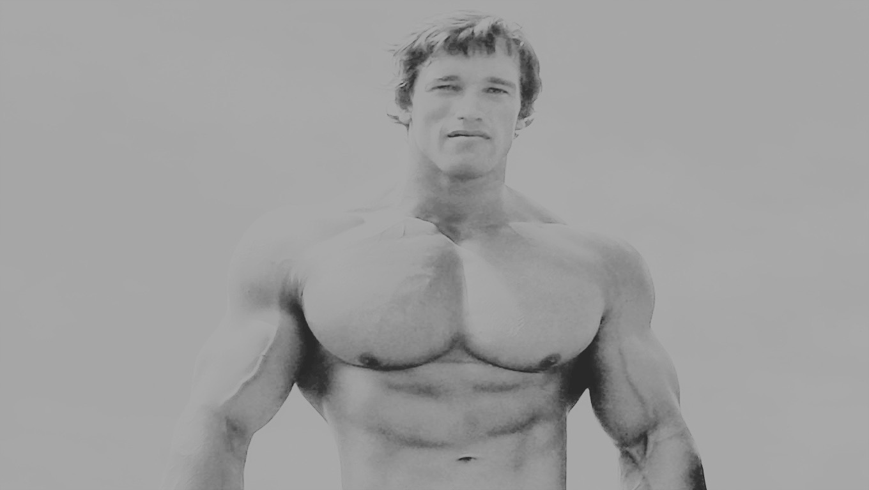 Arnold Schwarzenegger com a Mr. Olympia