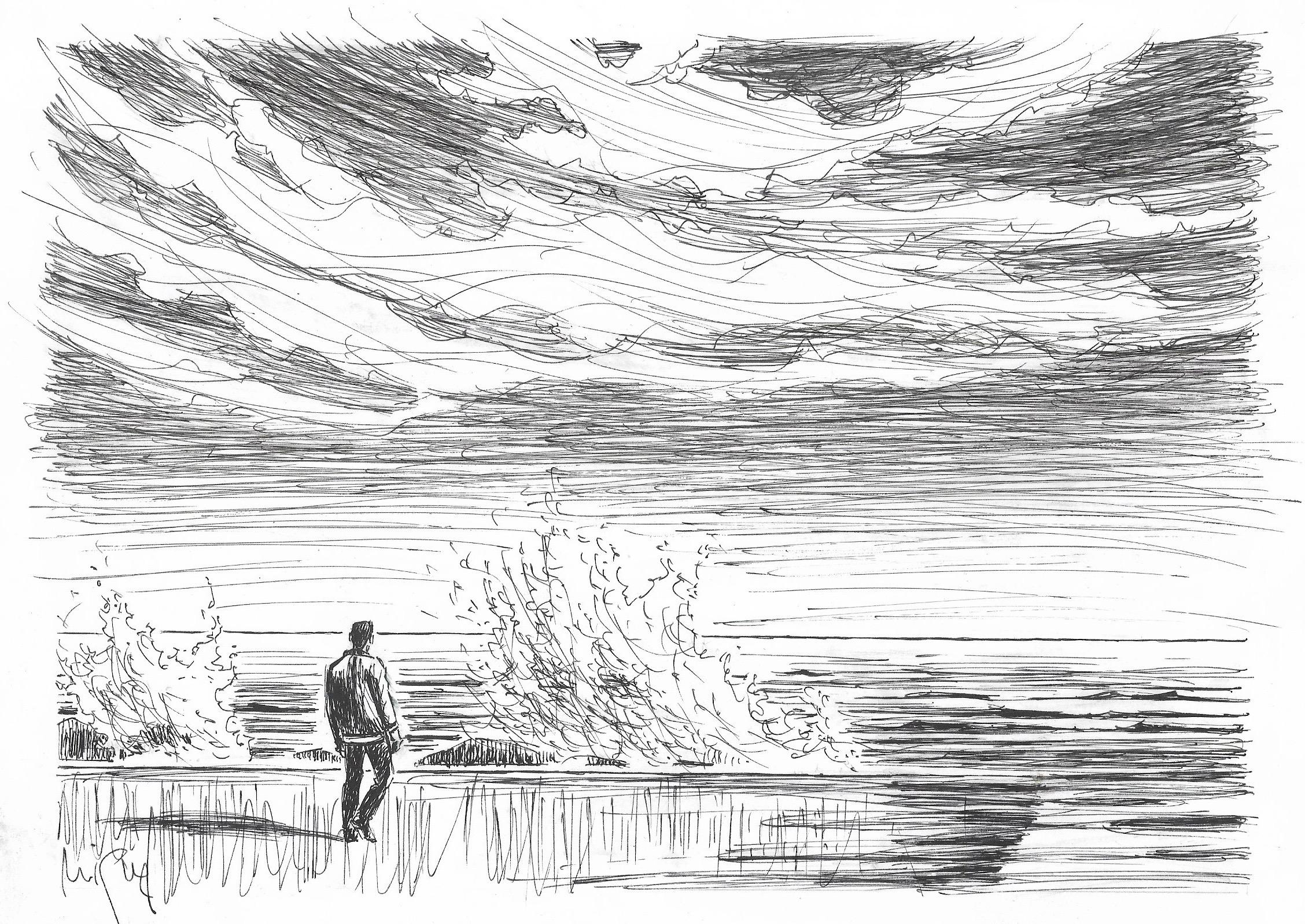 L'espigó, vist per l'artista Miquel Fuster